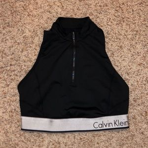 Calvin Klein zip performance top
